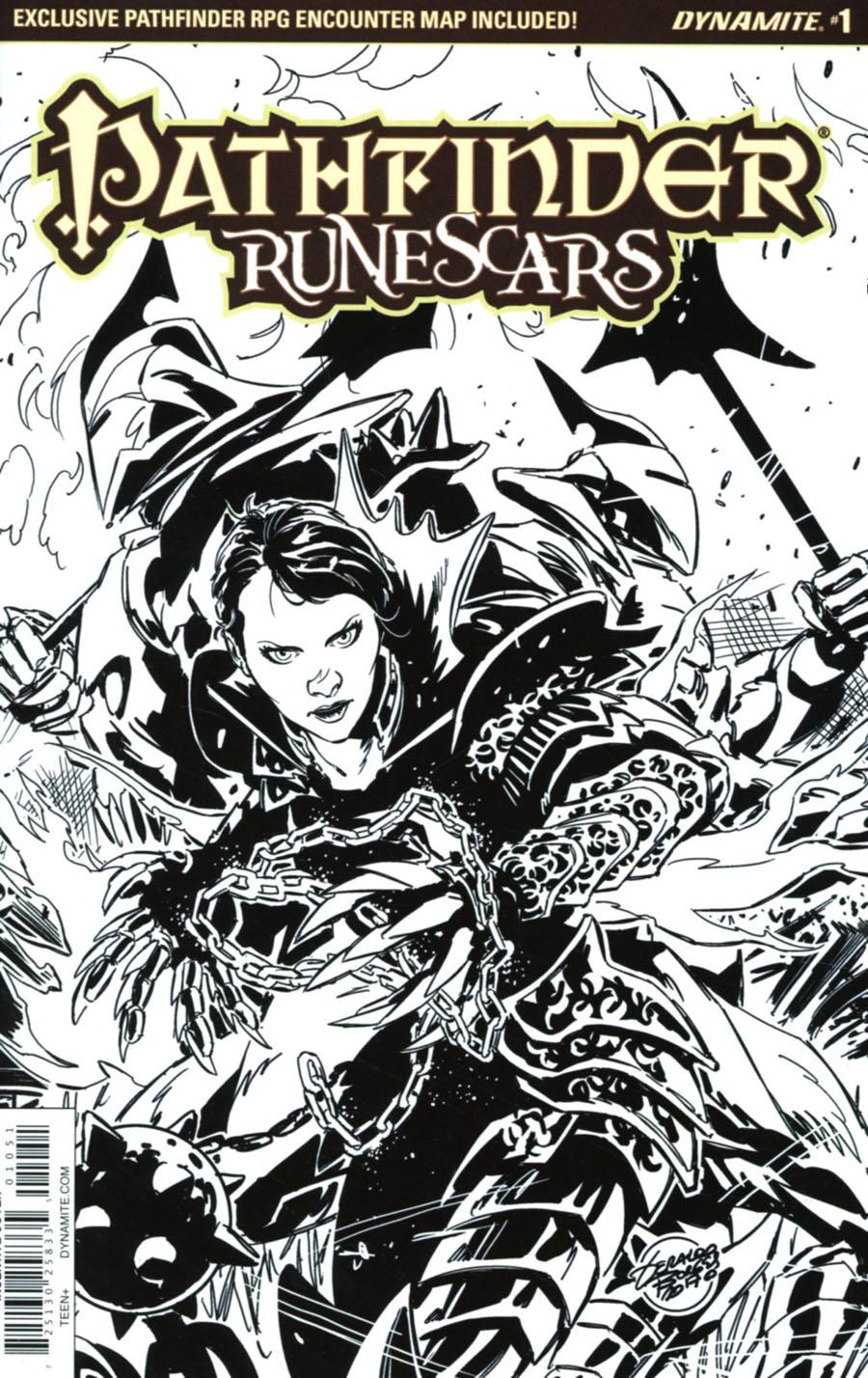 Pathfinder Runescars #1 Cover E Incentive Geraldo Borges Black & White Cover