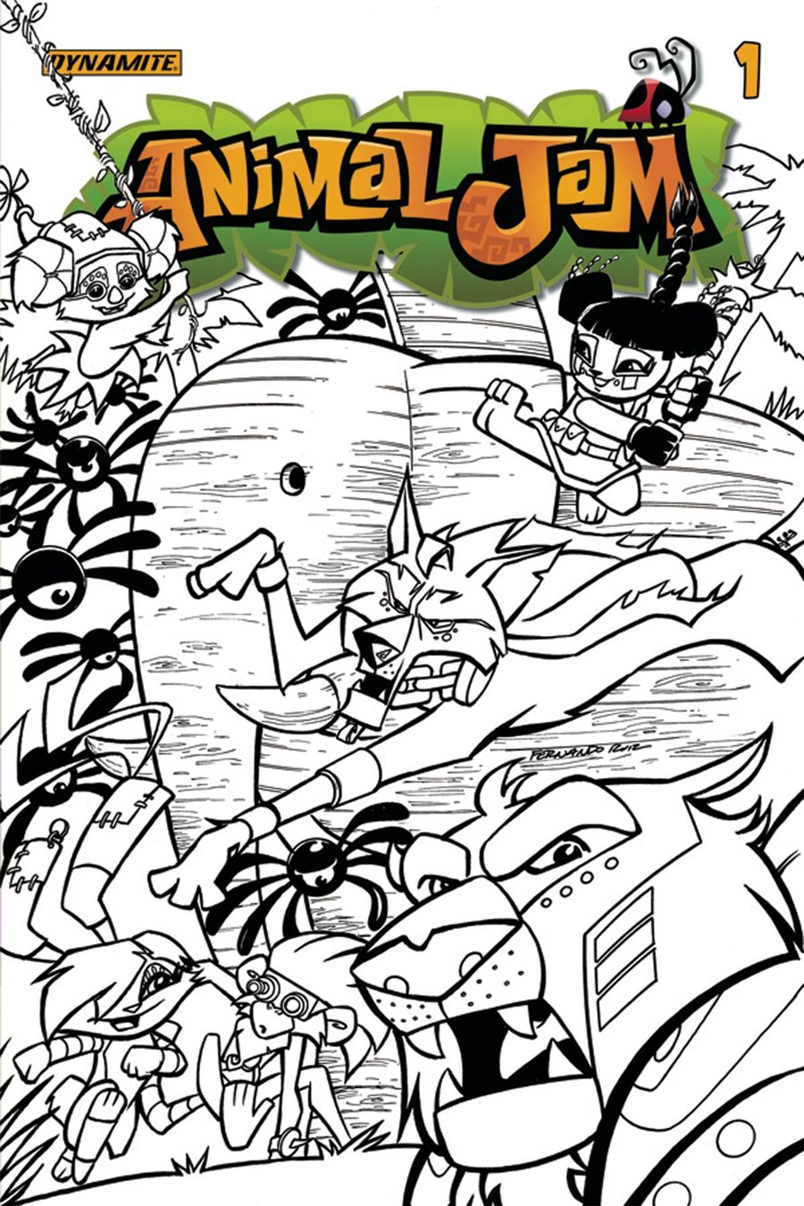 Animal Jam #1 Cover E Incentive Fernando Ruiz Black & White Cover