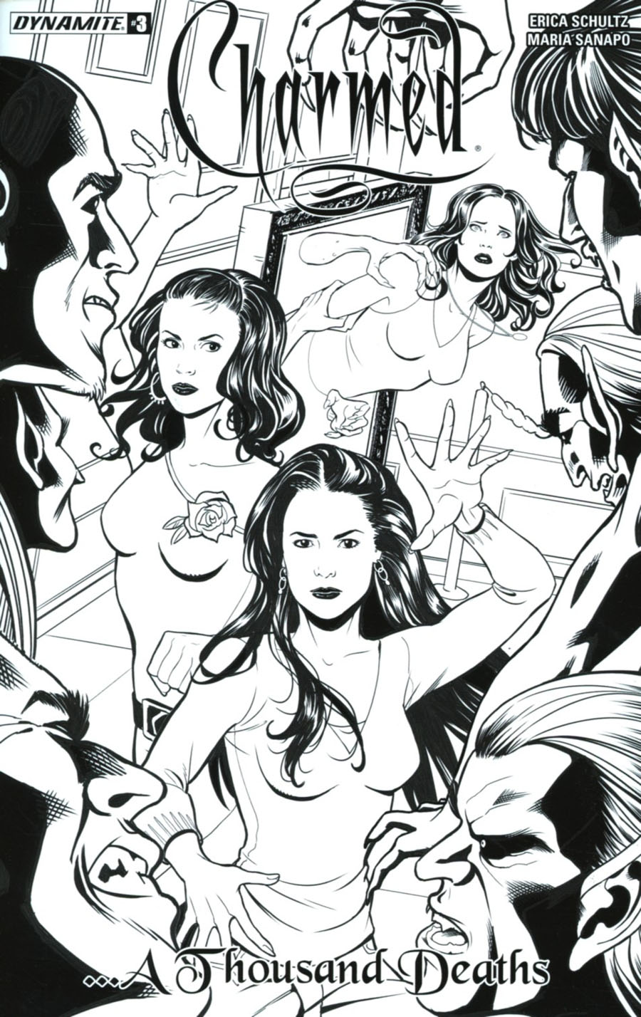 Charmed Vol 2 #3 Cover D Incentive Maria Sanapo Black & White Cover