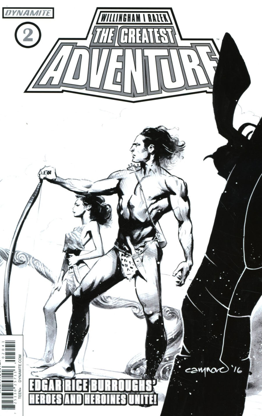Greatest Adventure #2 Cover D Incentive Cary Nord Black & White Cover