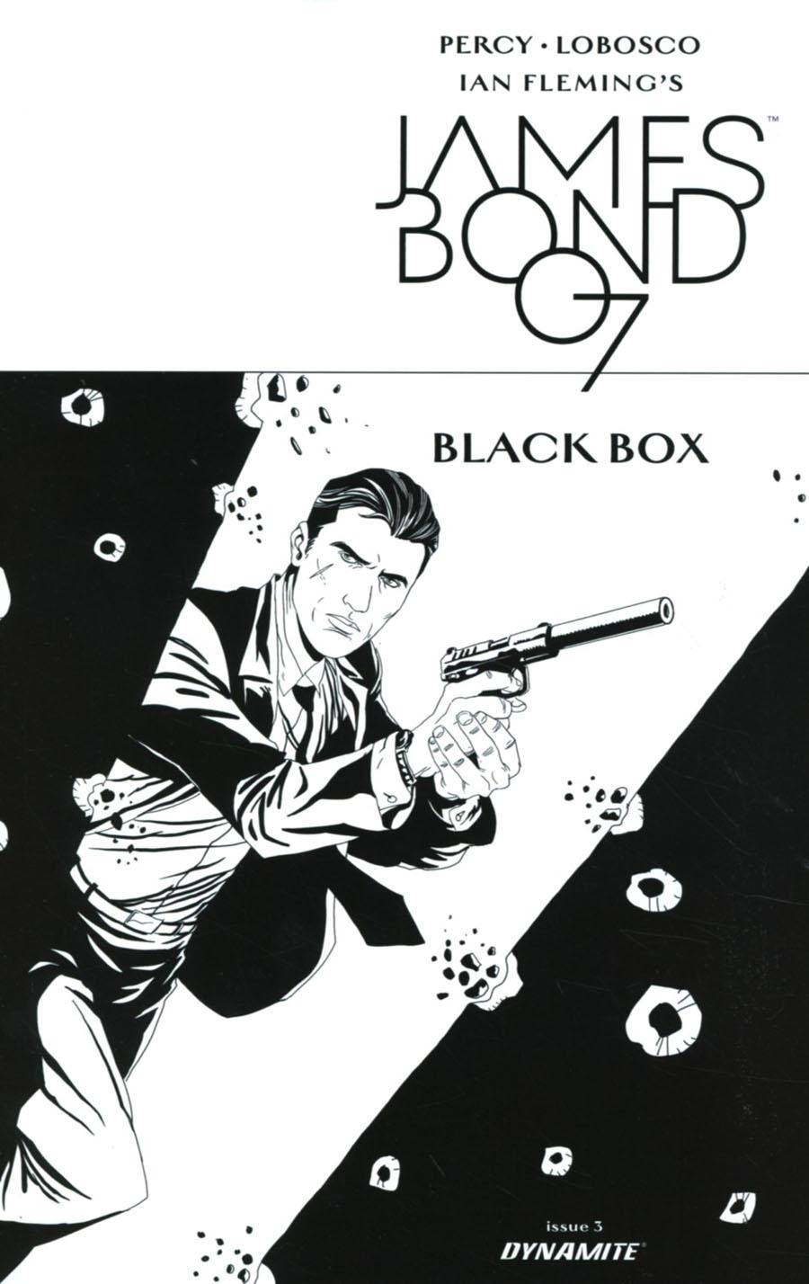 James Bond Vol 2 #3 Cover D Incentive Rapha Lobosco Black & White Cover
