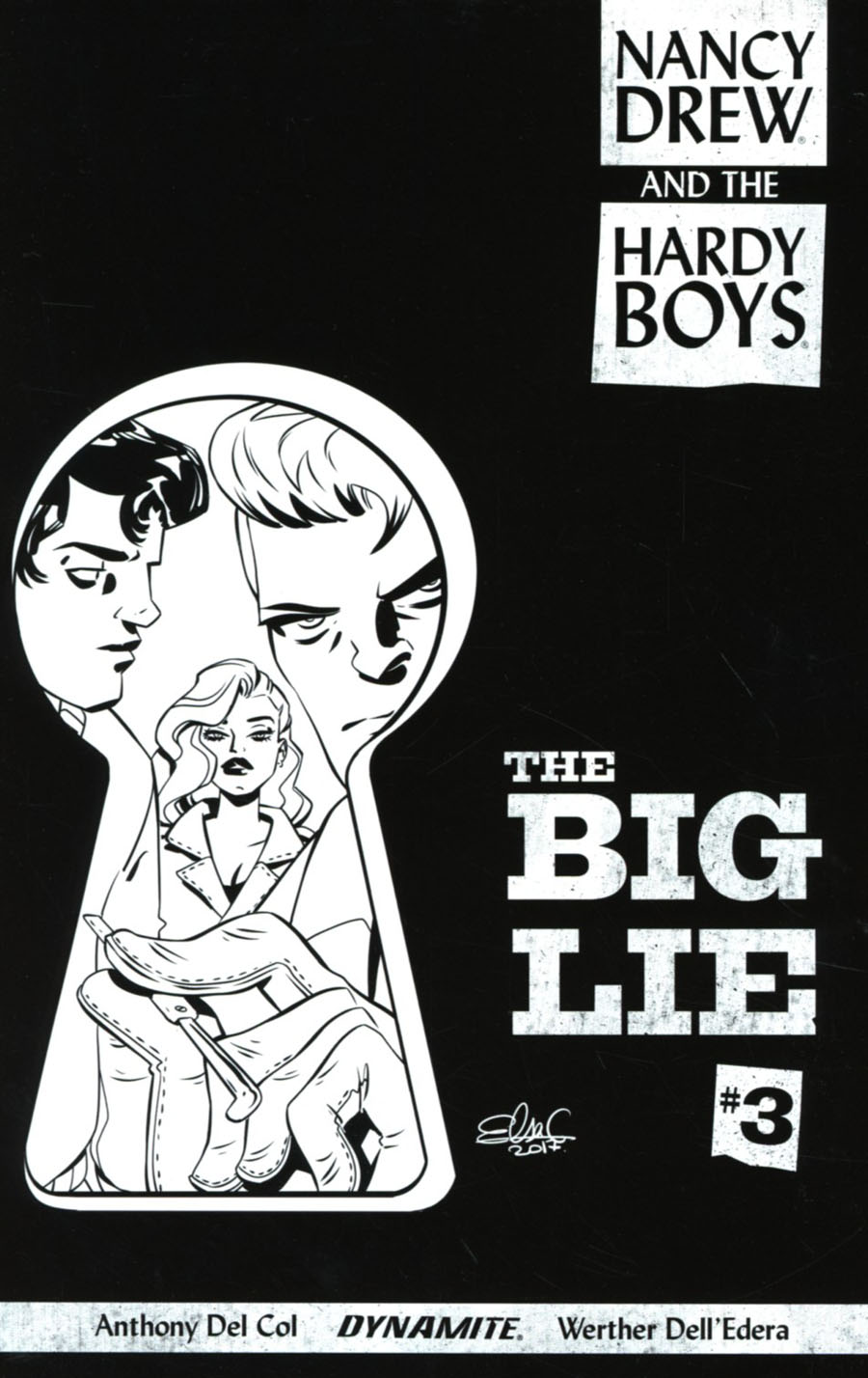 Nancy Drew And The Hardy Boys The Big Lie #3 Cover C Incentive Elsa Charretier Black & White Cover