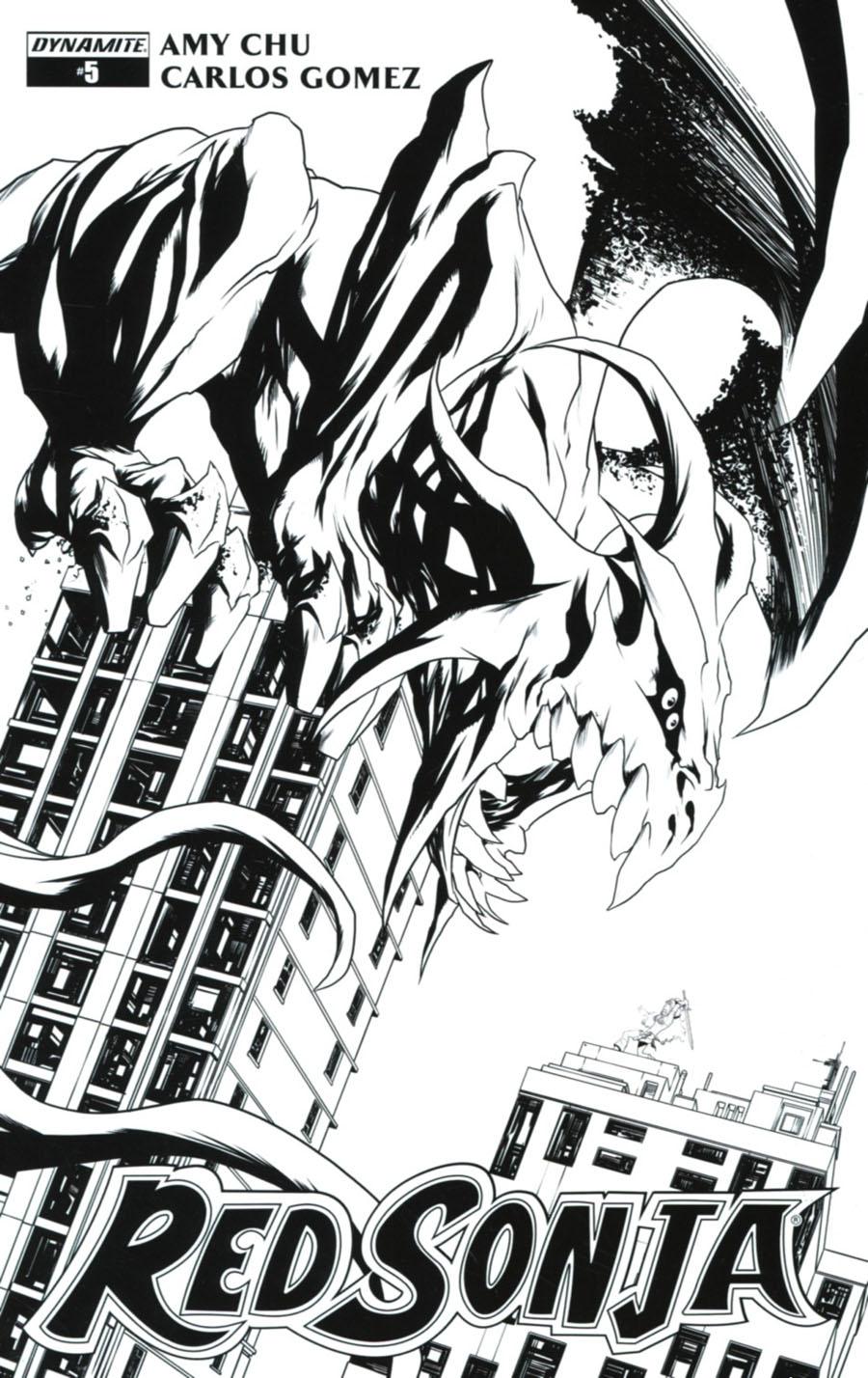 Red Sonja Vol 7 #5 Cover G Incentive Mike McKone Black & White Cover