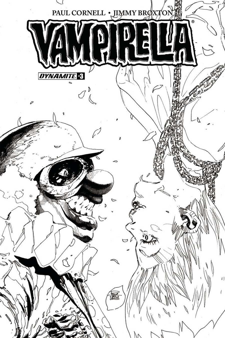 Vampirella Vol 7 #3 Cover F Incentive Philip Tan Black & White Cover