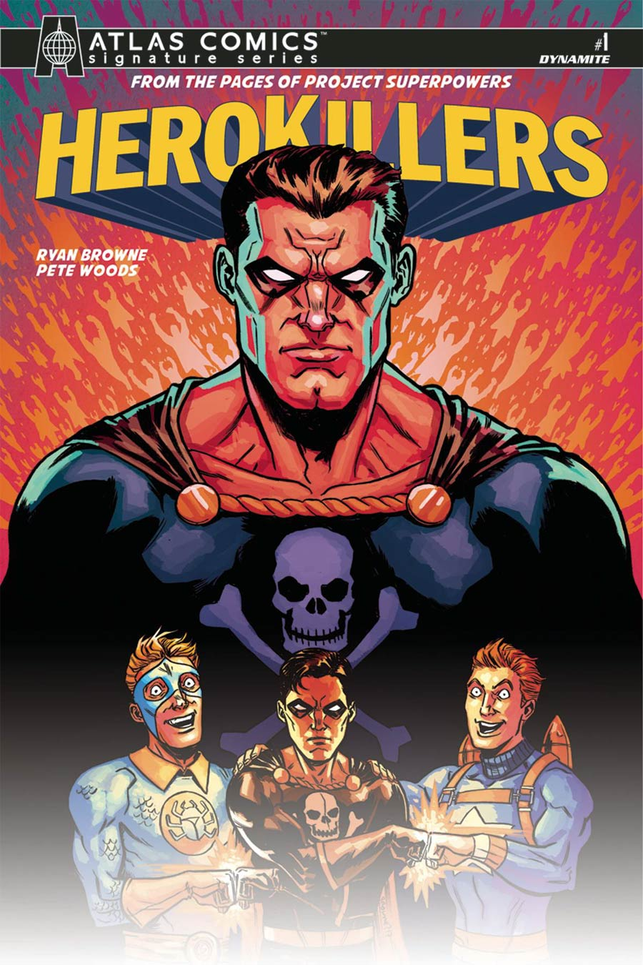 Project Superpowers Hero Killers #1 Cover G Atlas Comics Signature Series Signed By Ryan Browne