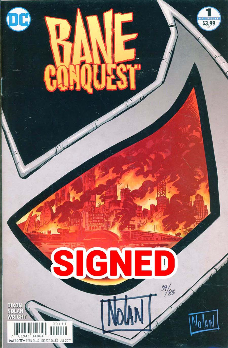Bane Conquest #1 Cover C DF Signed By Graham Nolan