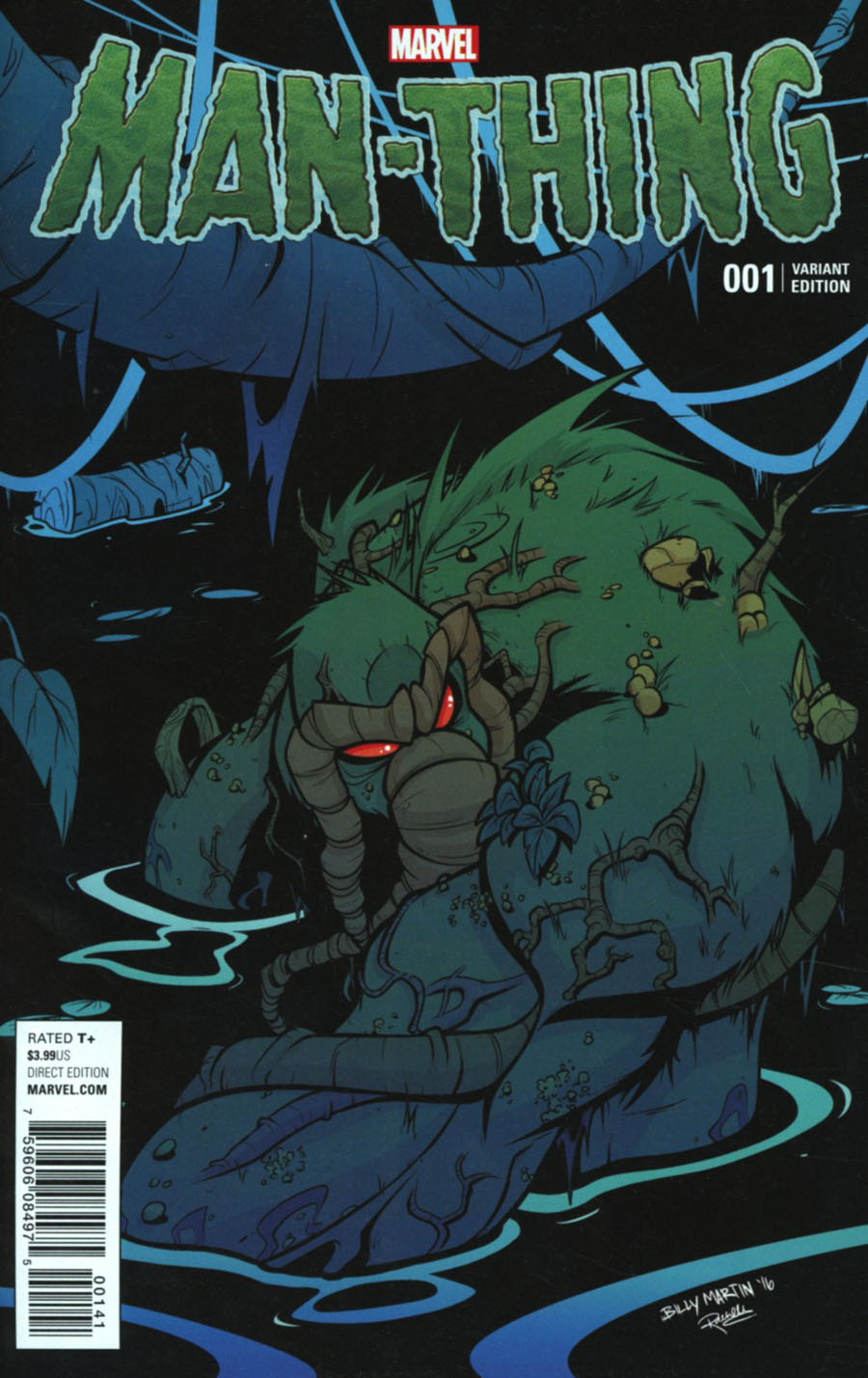 Man-Thing Vol 5 #1 Cover F Incentive Billy Martin Variant Cover
