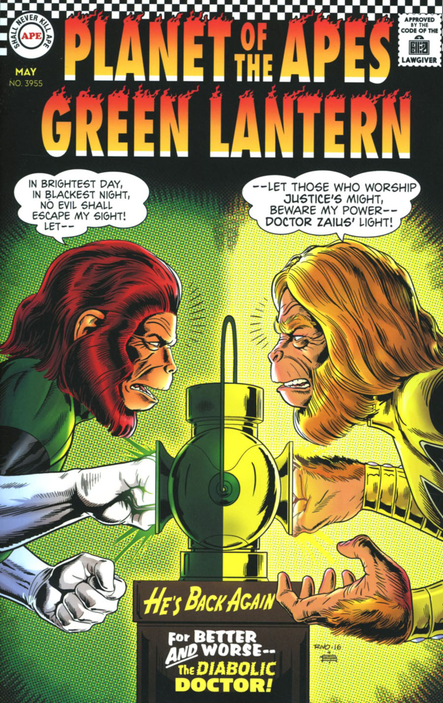 Planet Of The Apes Green Lantern #2 Cover D Incentive Paul Rivoche Silver Age Virgin Variant Cover