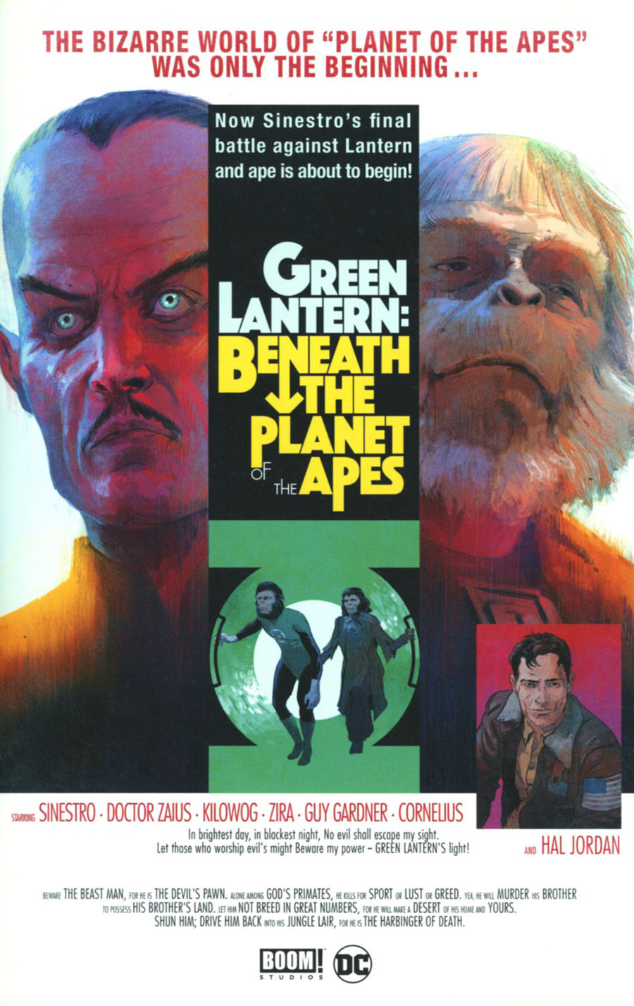 Planet Of The Apes Green Lantern #2 Cover E Incentive Robert Sammelin Movie Poster Virgin Variant Cover