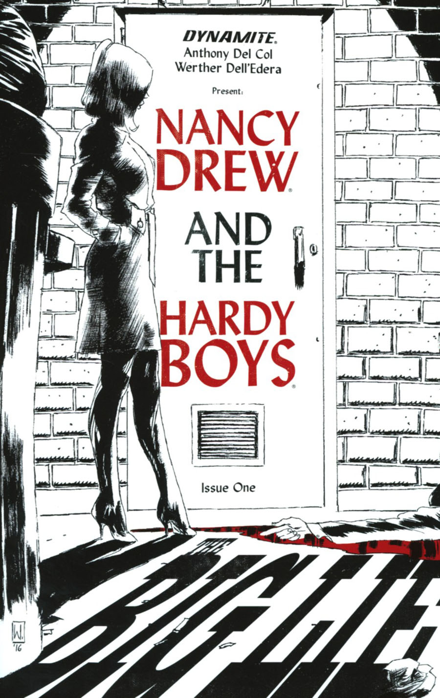 Nancy Drew And The Hardy Boys The Big Lie #1 Cover I Incentive Werther Delledera Variant Cover