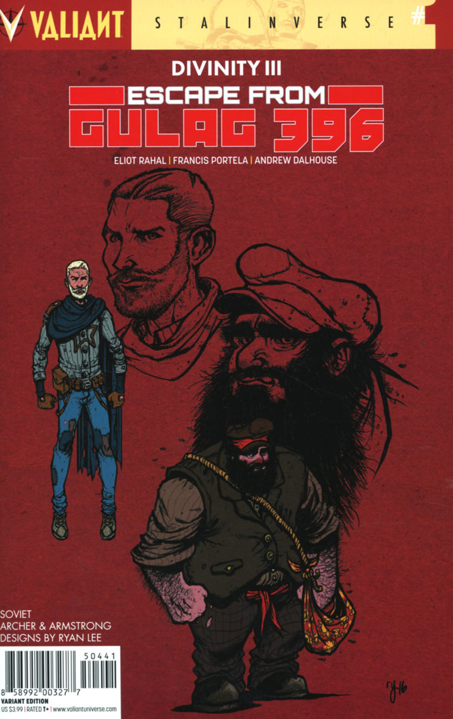Divinity III Escape From Gulag 396 #1 Cover D Incentive Ryan Lee Character Design Variant Cover