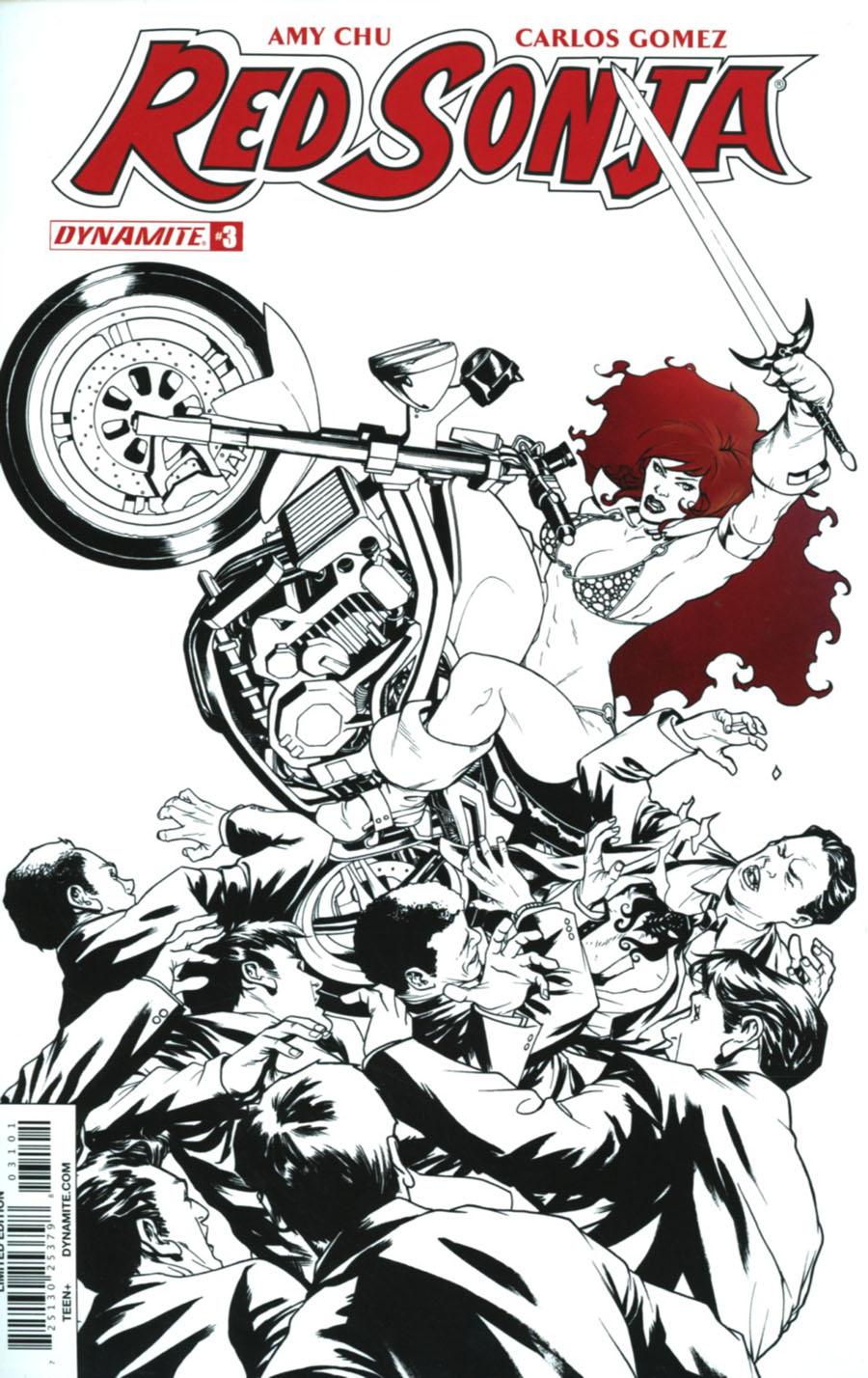 Red Sonja Vol 7 #3 Cover J Incentive Mike McKone Spot Color Cover