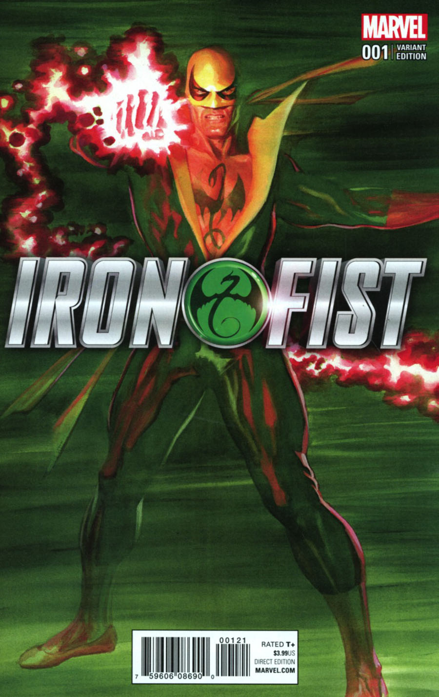 Iron Fist Vol 5 #1 Cover F Incentlve Alex Ross Color Variant Cover