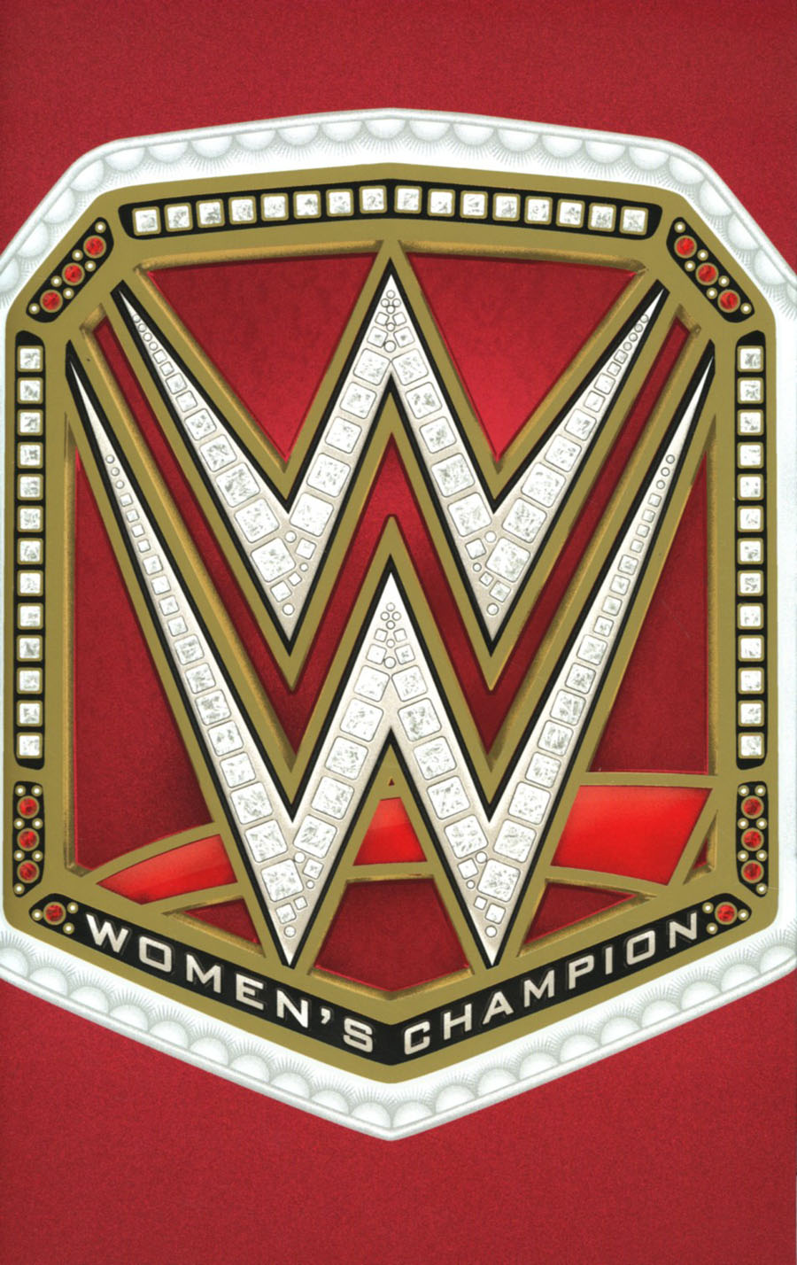 WWE #3 Cover G Incentive WWE Raw Womens Championship Title Belt Foil Gatefold Virgin Variant Cover