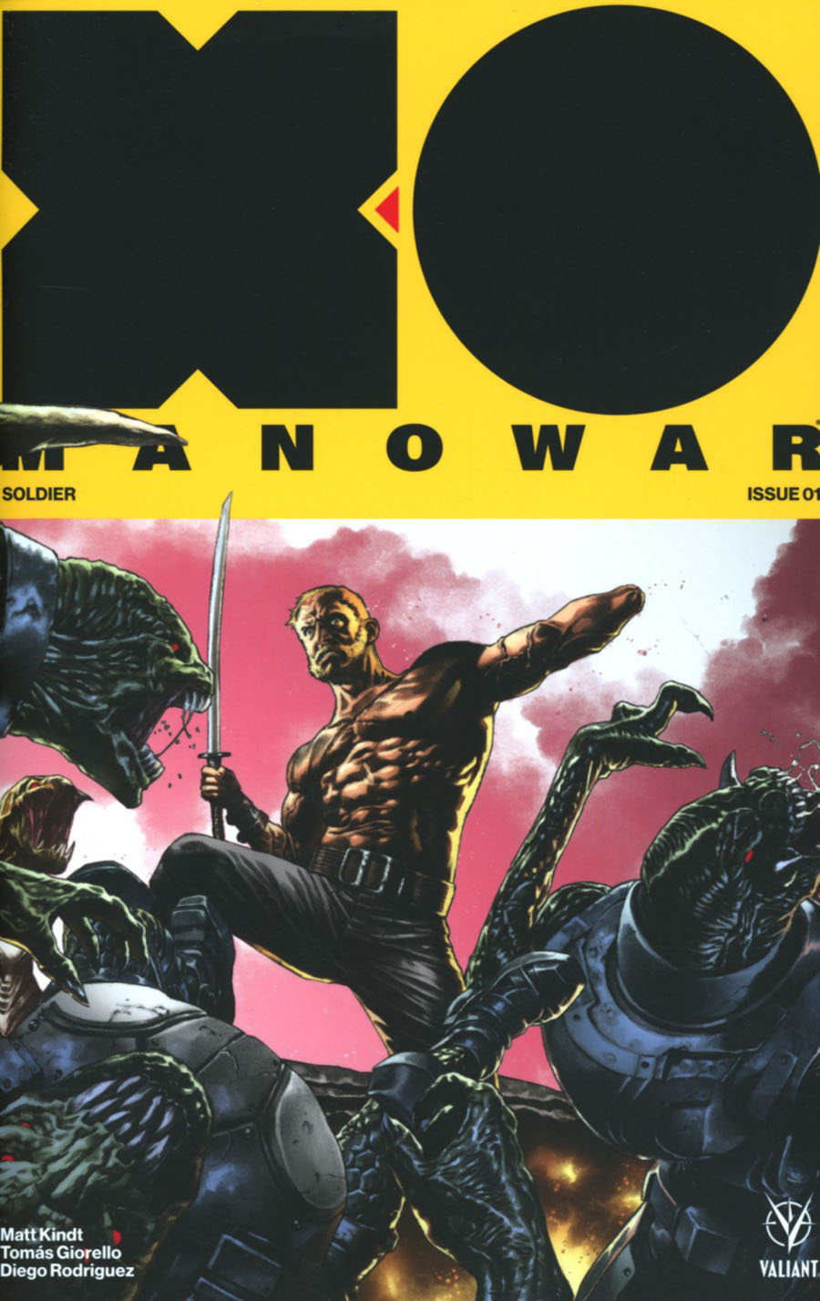 X-O Manowar Vol 4 #1 Cover D Incentive Mico Suayan Interlocking Variant Cover