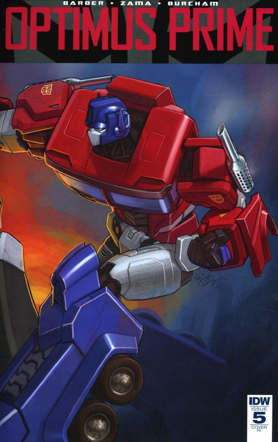 Optimus Prime #5 Cover D Incentive EJ Su Variant Cover