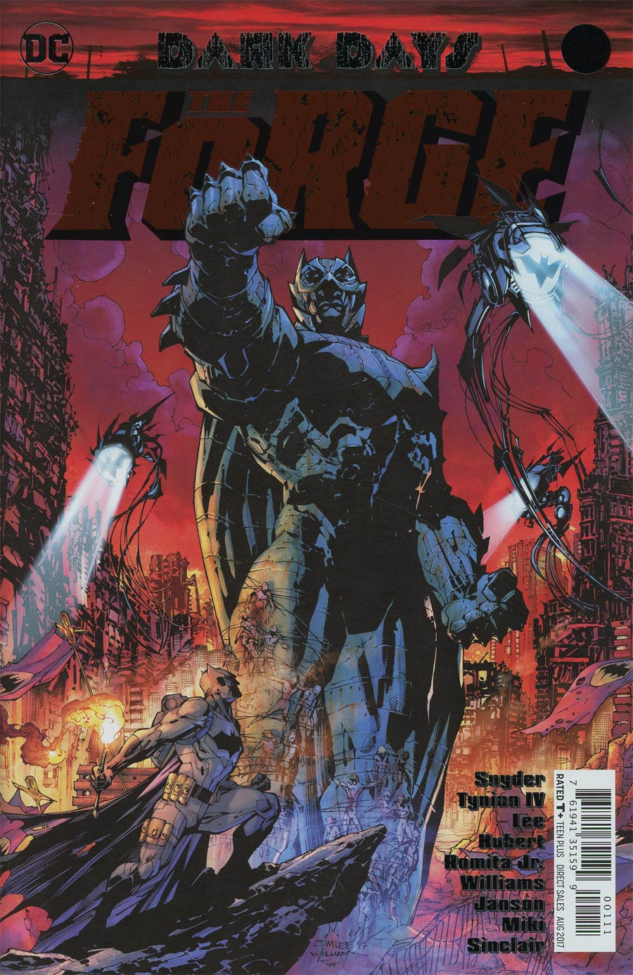 Dark Days The Forge #1 Cover A 1st Ptg Regular Jim Lee & Scott Williams Foil-Stamped Cover