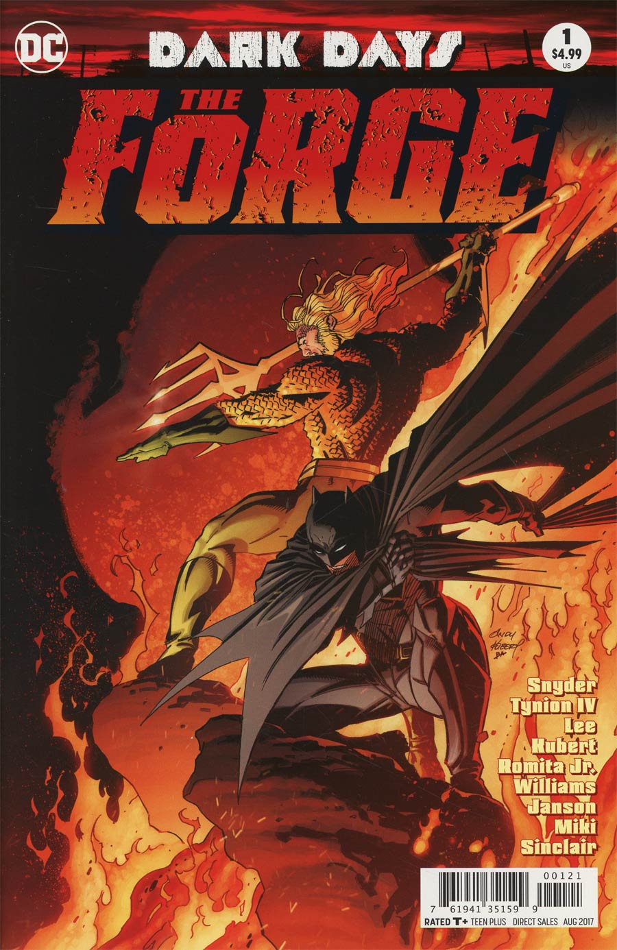 Dark Days The Forge #1 Cover B Variant Andy Kubert Cover