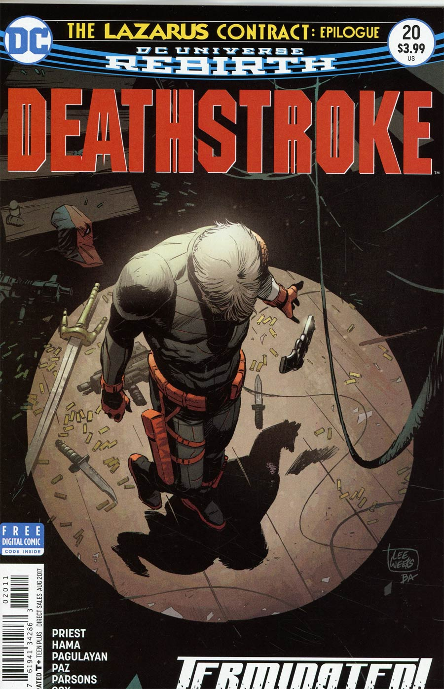 Deathstroke Vol 4 #20 Cover A Regular Lee Weeks Cover (Lazarus Contract Epilogue)