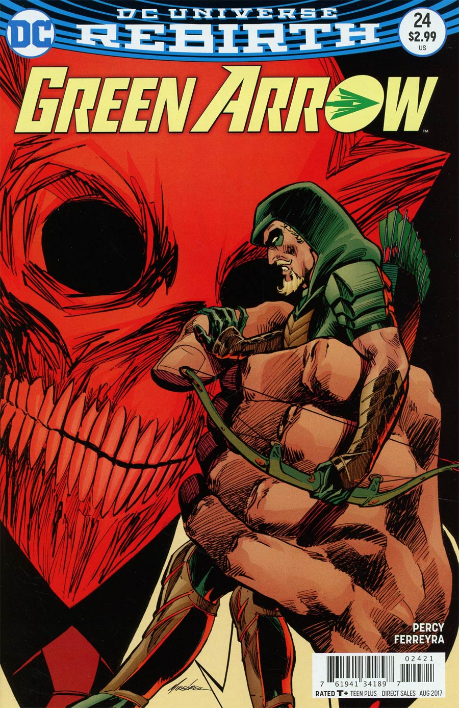 Green Arrow Vol 7 #24 Cover B Variant Mike Grell Cover