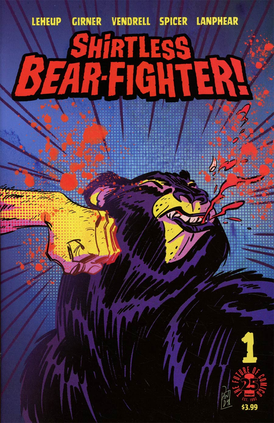 Shirtless Bear-Fighter #1 Cover C Variant Andy Suriano Cover