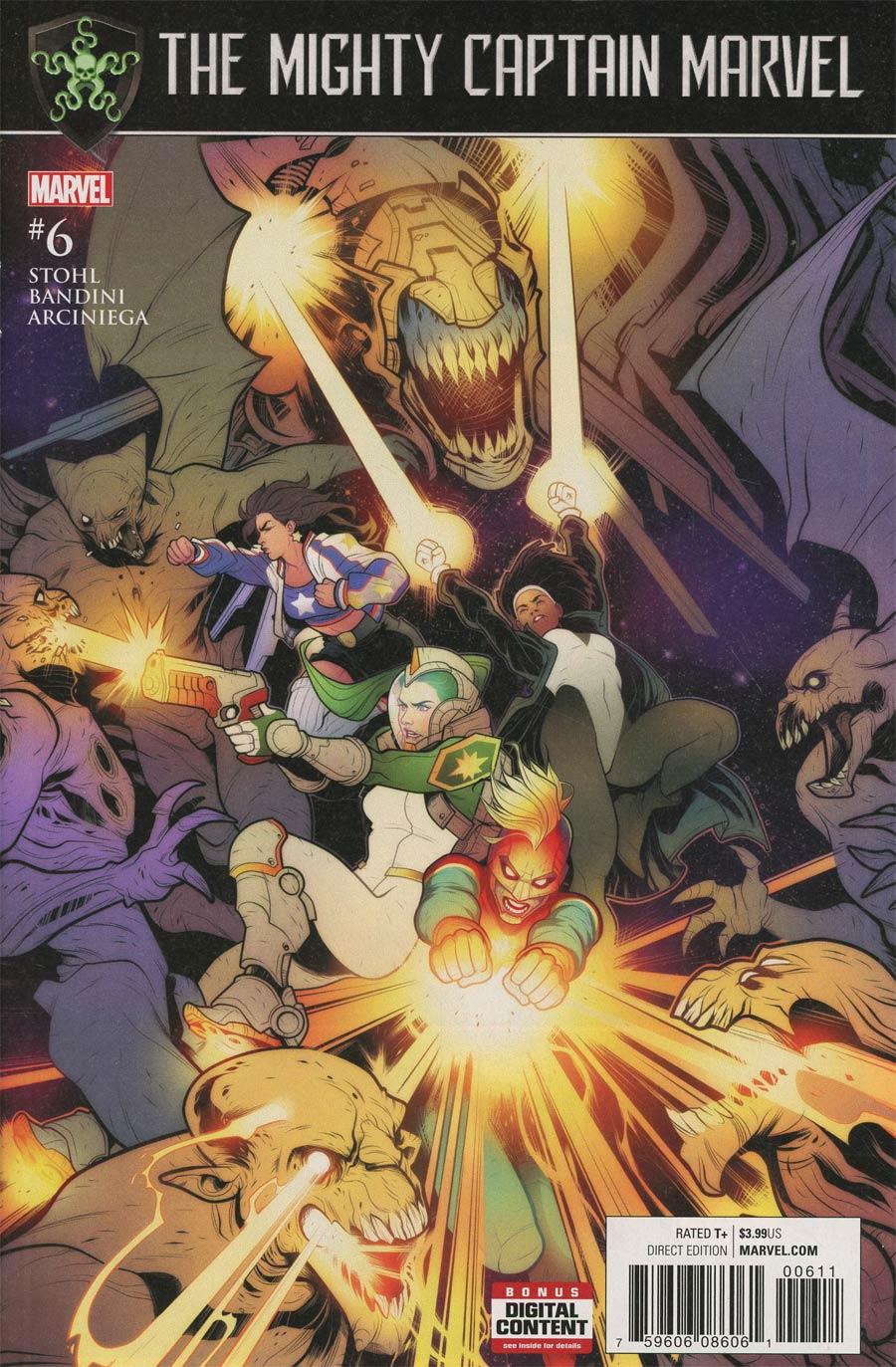 Mighty Captain Marvel #6 Cover A Regular Elizabeth Torque Cover (Secret Empire Tie-In)