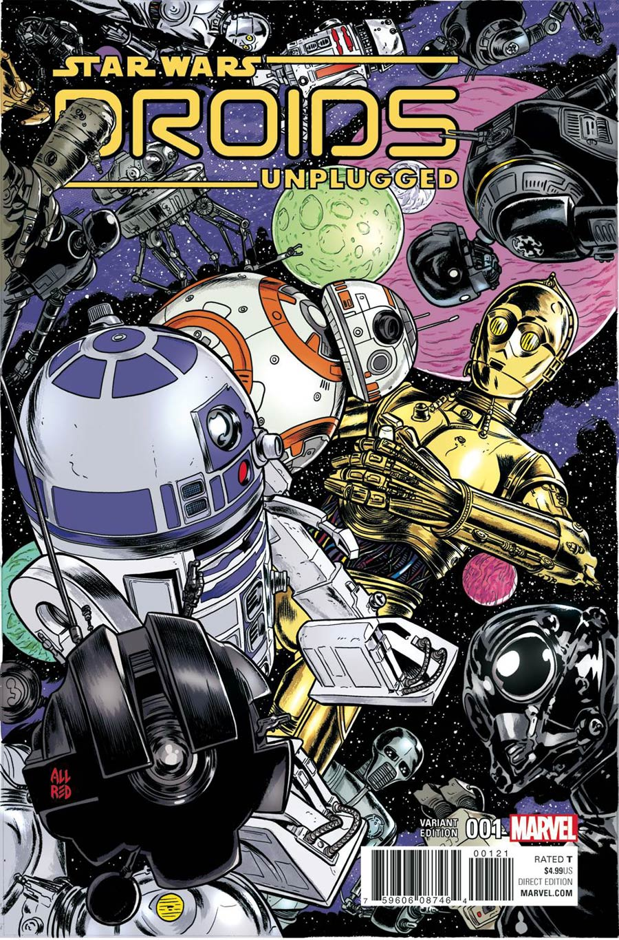 Star Wars Droids Unplugged #1 Cover B Variant Michael Allred Cover