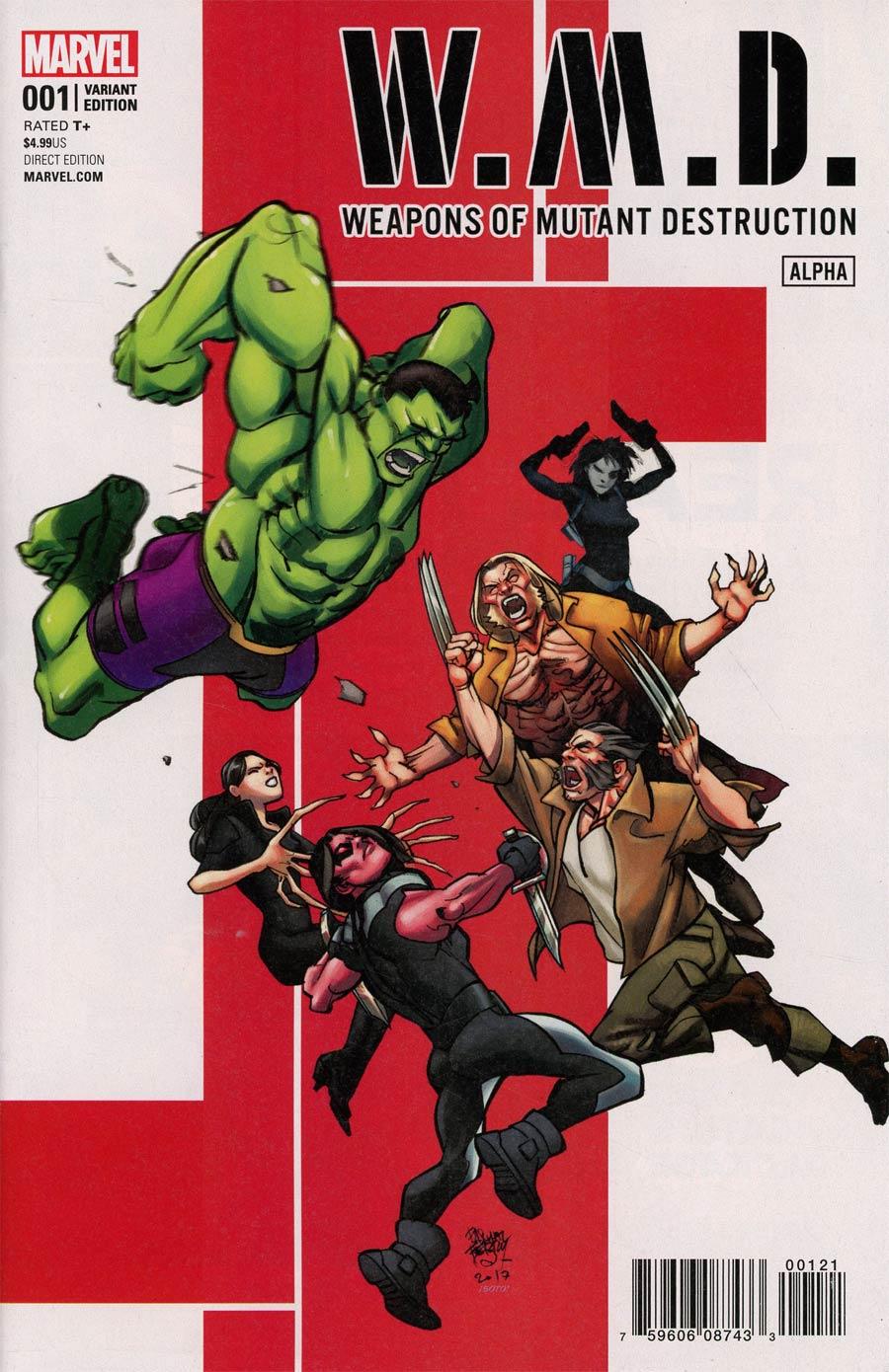 Weapons Of Mutant Destruction Alpha #1 Cover B Variant Pasqual Ferry Cover (Weapons Of Mutant Destruction Part 1)