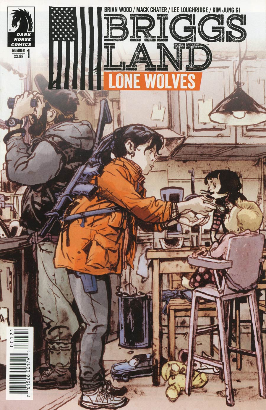 Briggs Land Lone Wolves #1 Cover B Variant Kim Jung Gi Cover