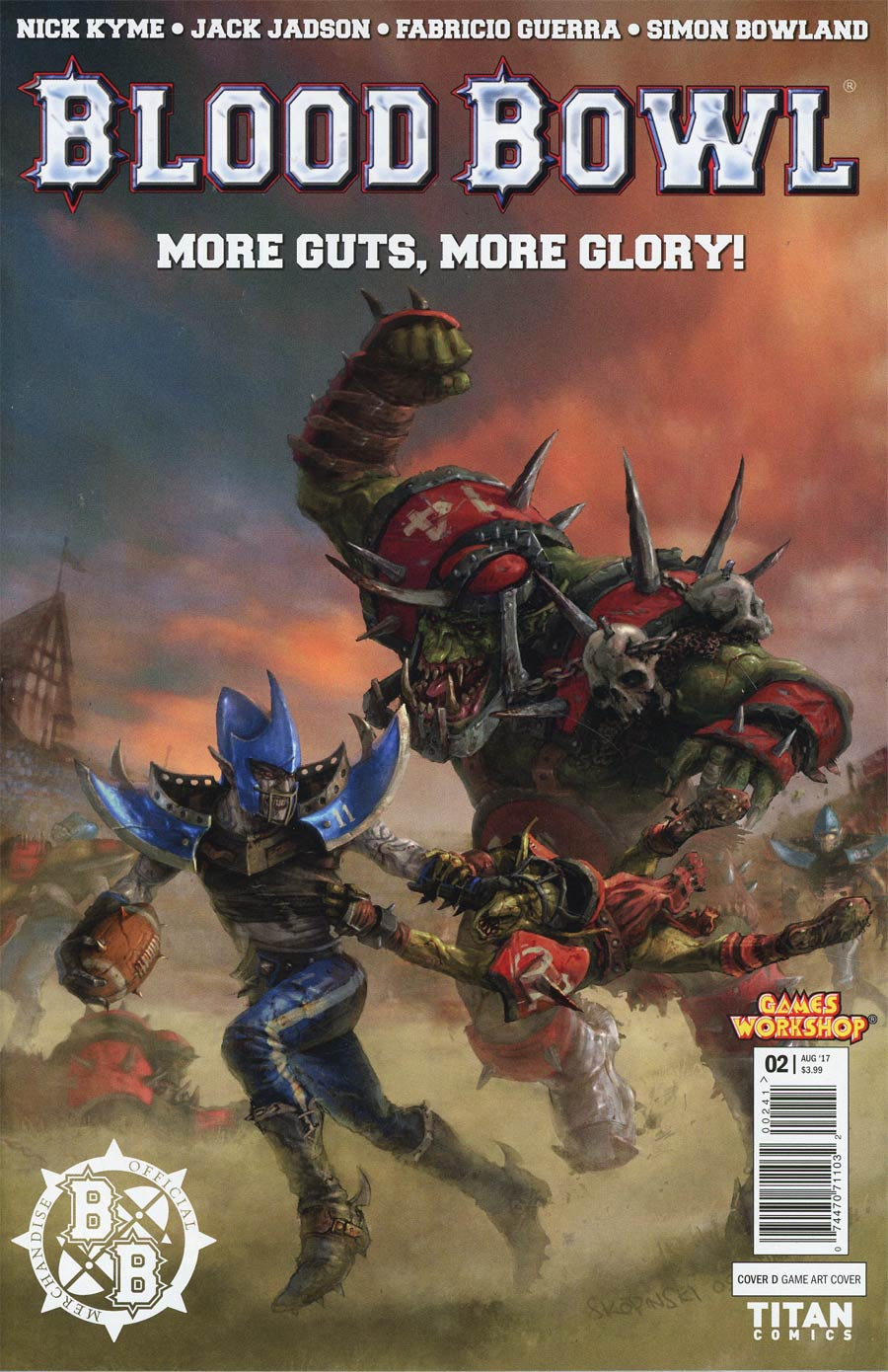 Blood Bowl More Guts More Glory #2 Cover D Variant Game Cover