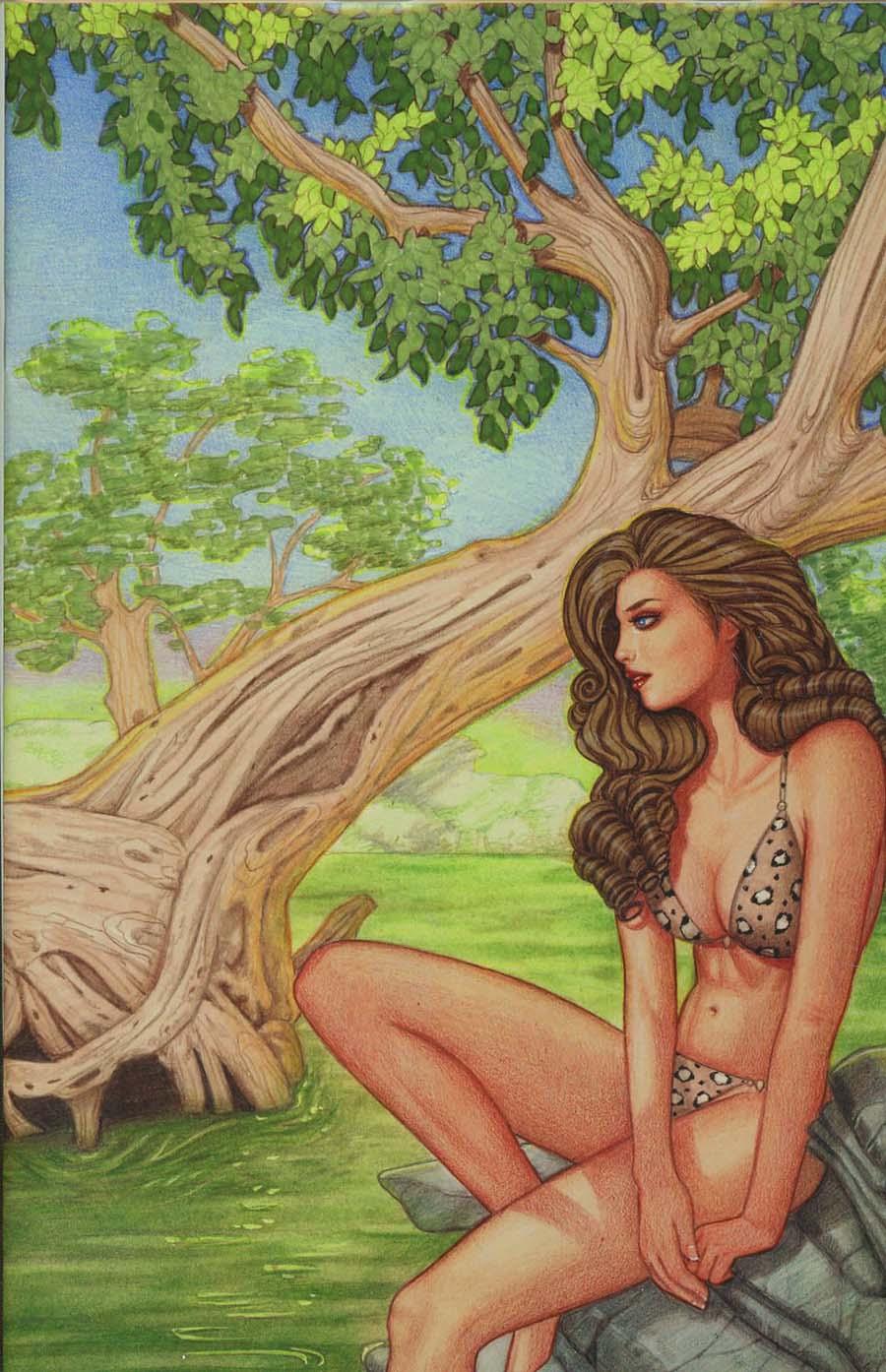 Cavewoman Starship Blish #2 Cover G Variant Conny Valentina Cover