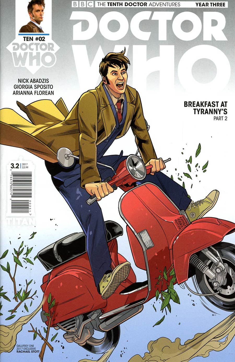 Doctor Who 10th Doctor Year Three #2 Cover E Variant Rachael Stott Gallifrey One Show Cover