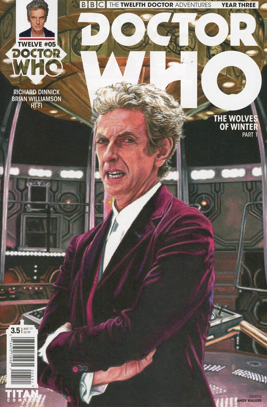 Doctor Who 12th Doctor Year Three #5 Cover D Variant Andy Walker Cover