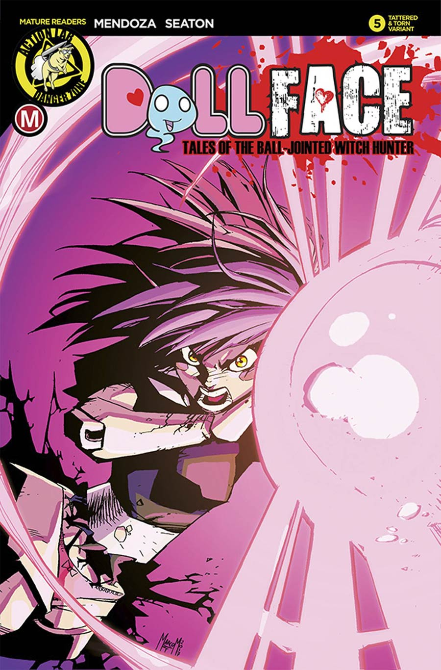 Dollface #6 Cover D Variant Marco Maccagni Pin-Up Tattered & Torn Cover