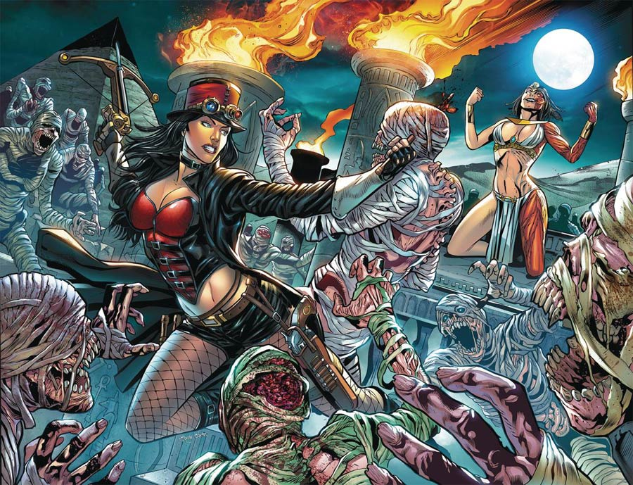 Grimm Fairy Tales Presents Van Helsing vs The Mummy Of Amun-Ra #6 Cover B Igor Lima Connecting