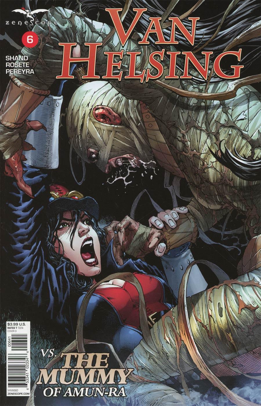 Grimm Fairy Tales Presents Van Helsing vs The Mummy Of Amun-Ra #6 Cover D Netho Diaz