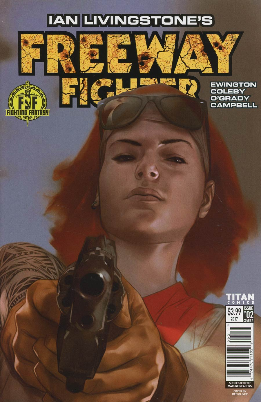 Ian Livingstones Freeway Fighter #2 Cover A Regular Ben Oliver Cover