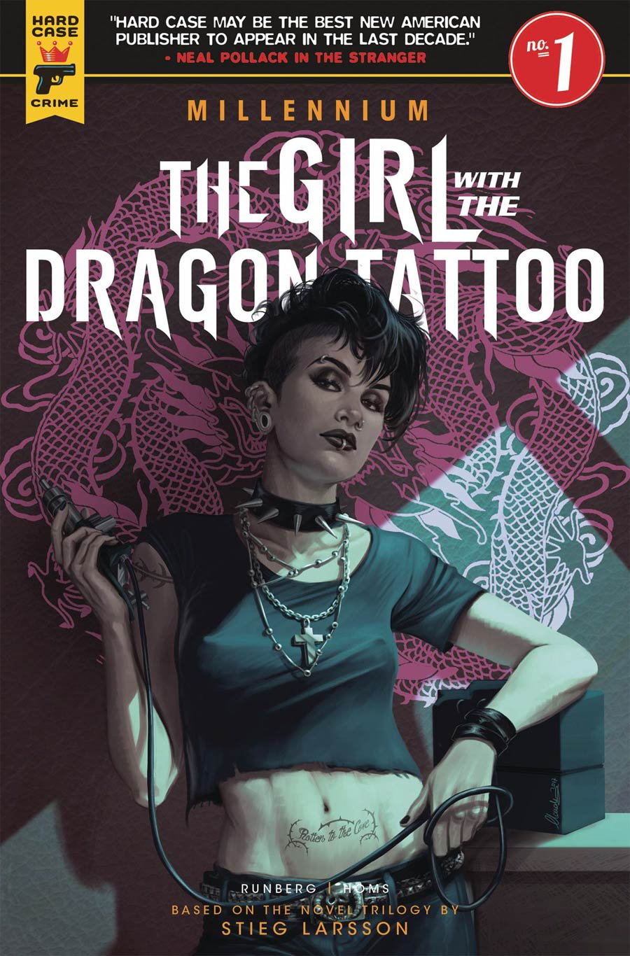Hard Case Crime Millennium Girl With The Dragon Tattoo #1 Cover A Regular Claudia Ianniciello Cover