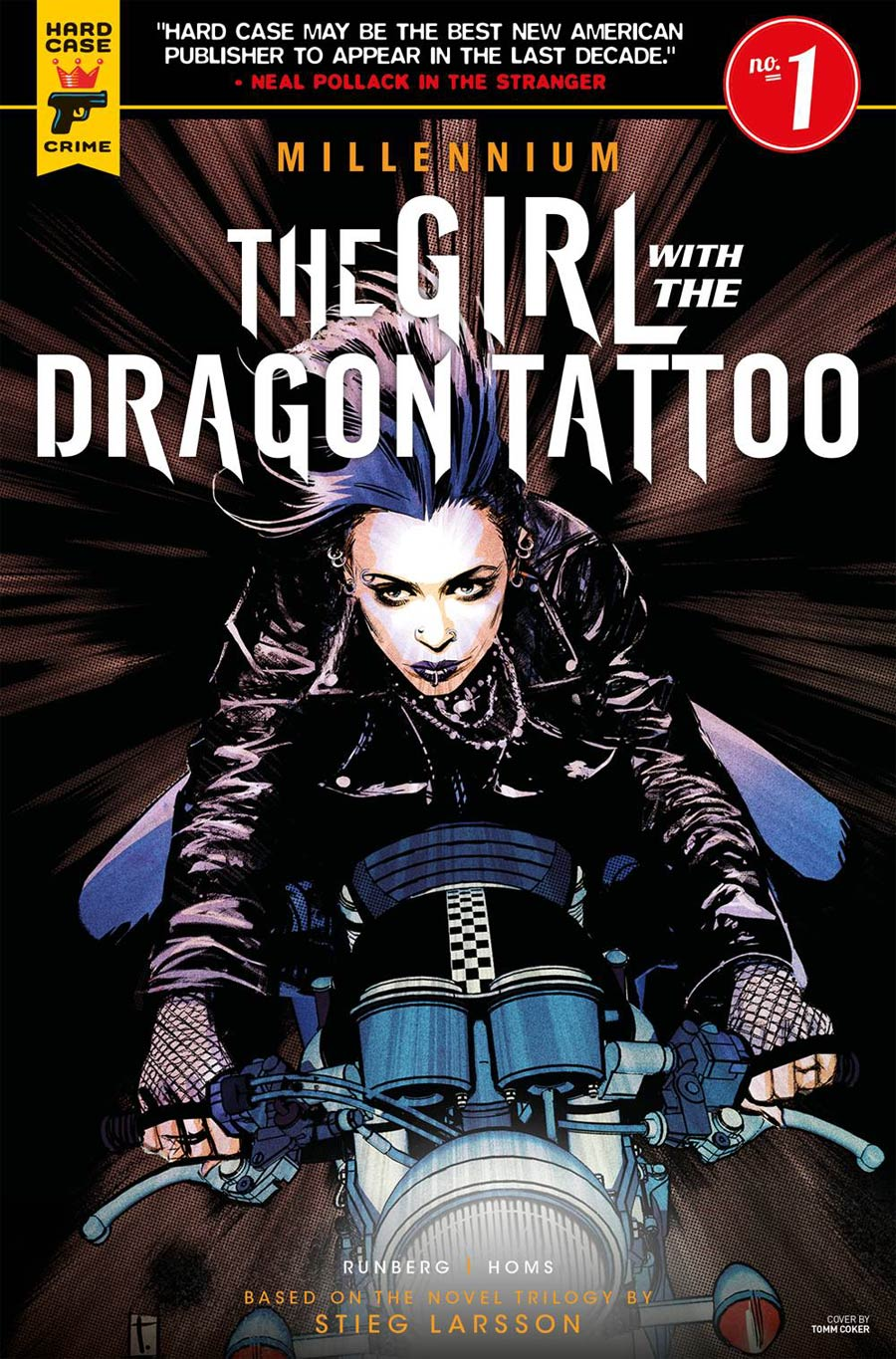 Hard Case Crime Millennium Girl With The Dragon Tattoo #1 Cover B Variant Tomm Coker Cover