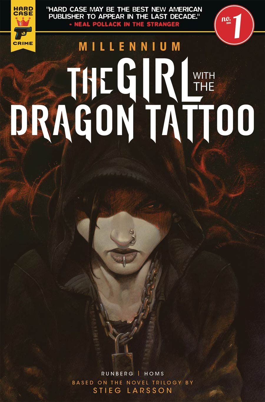 Hard Case Crime Millennium Girl With The Dragon Tattoo #1 Cover D Variant Book Cover