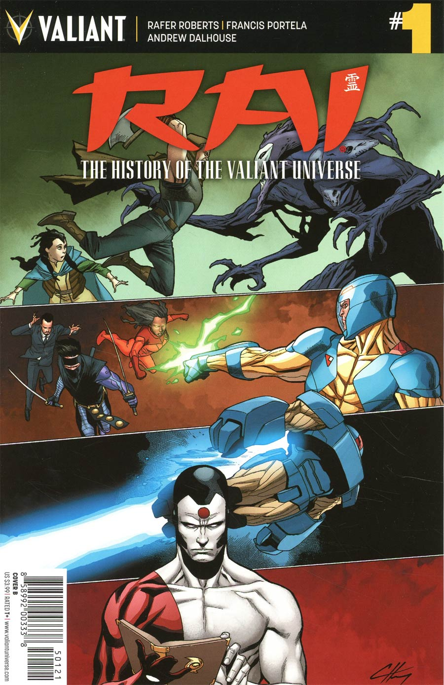 Rai History Of The Valiant Universe #1 Cover B Variant Clayton Henry Cover