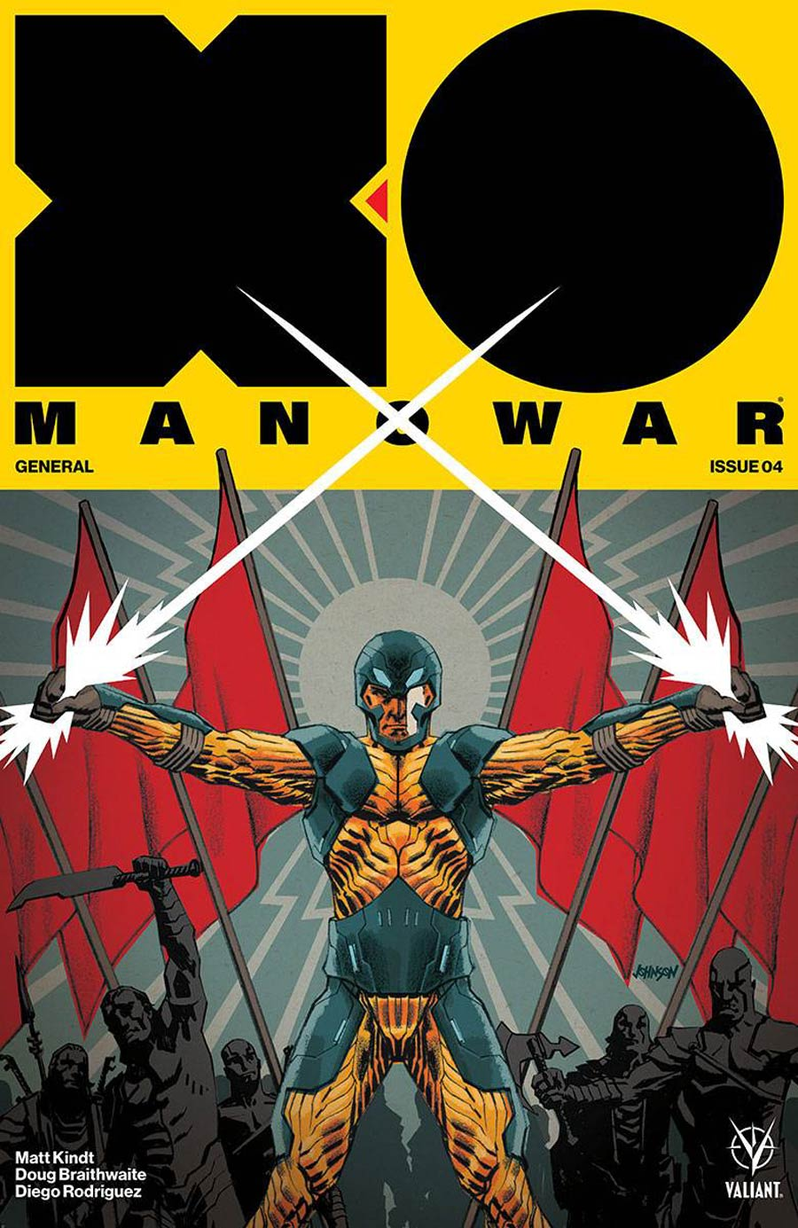 X-O Manowar Vol 4 #4 Cover B Variant Dave Johnson Cover