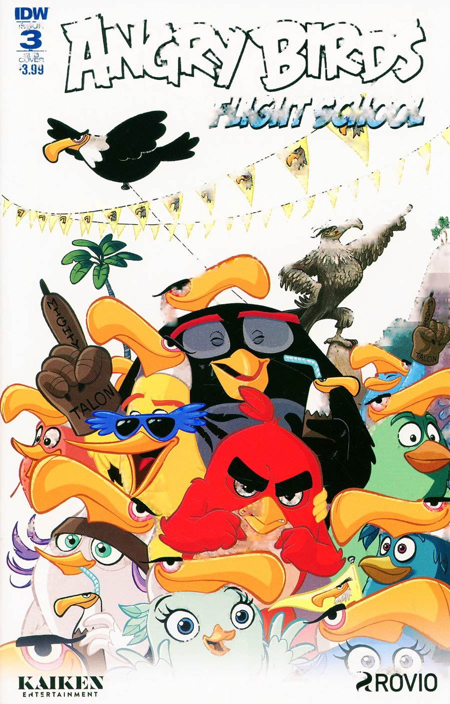 Angry Birds Flight School #3 Cover B Variant Paco Rodriquez Subscription Cover