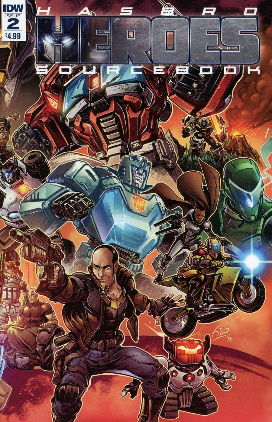 Hasbro Heroes Sourcebook #2 Cover A Regular Fico Ossio Cover