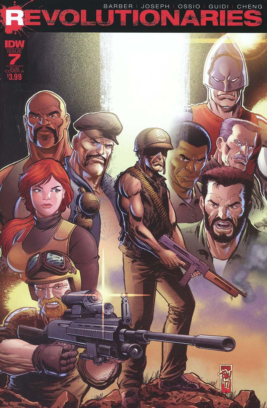 Revolutionaries #7 Cover B Variant Tone Rodriguez Subscription Cover