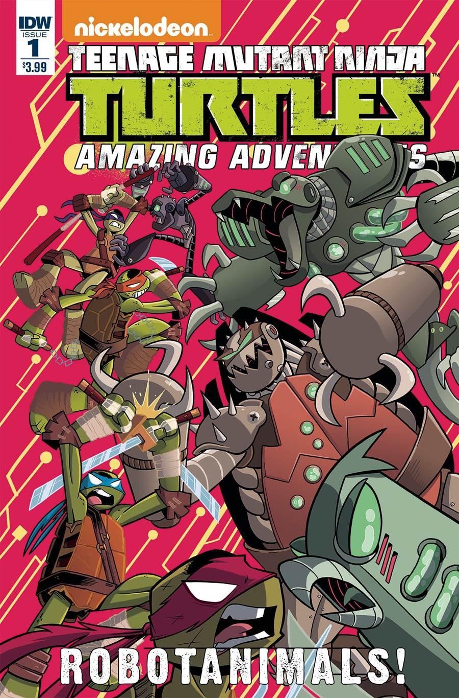 Teenage Mutant Ninja Turtles Amazing Adventures Robotanimals #1 Cover A Regular Chad Thomas Cover