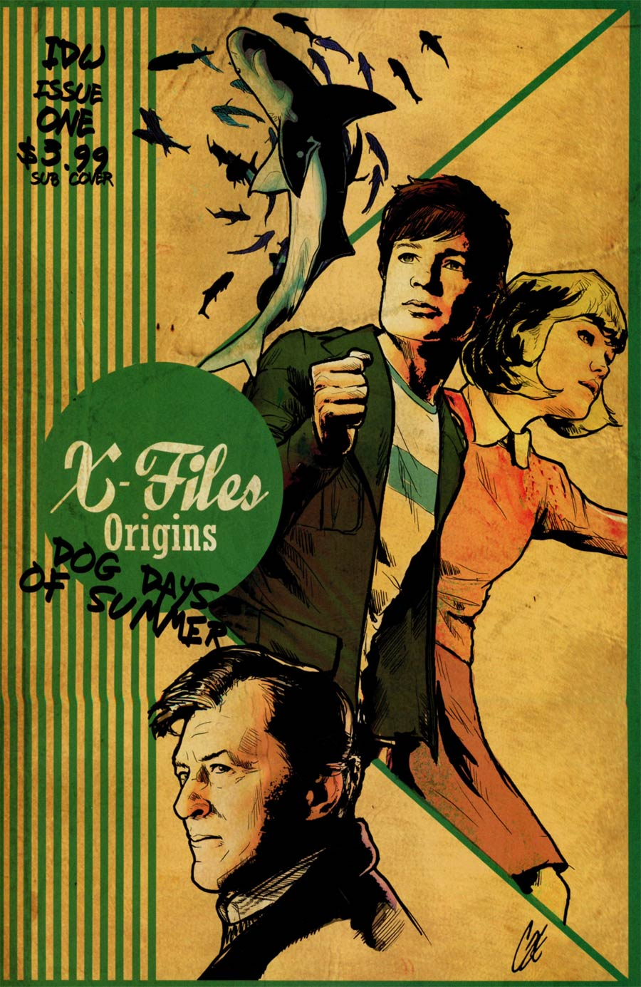 X-Files Origins II Dog Days Of Summer #1 Cover B Variant Cat Staggs Subscription Cover