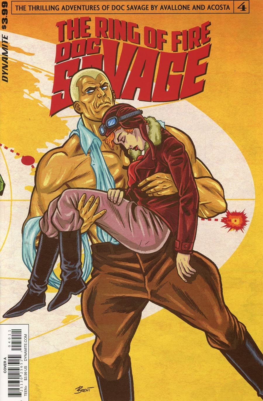 Doc Savage Ring Of Fire #4 Cover A Regular Brent Schoonover Cover