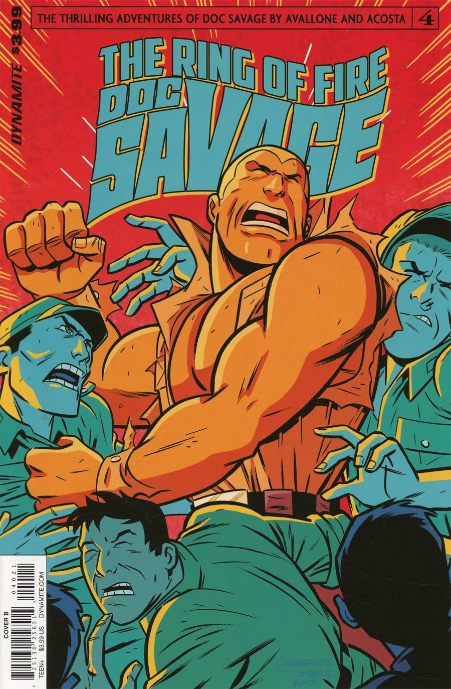 Doc Savage Ring Of Fire #4 Cover B Variant Anthony Marques Cover