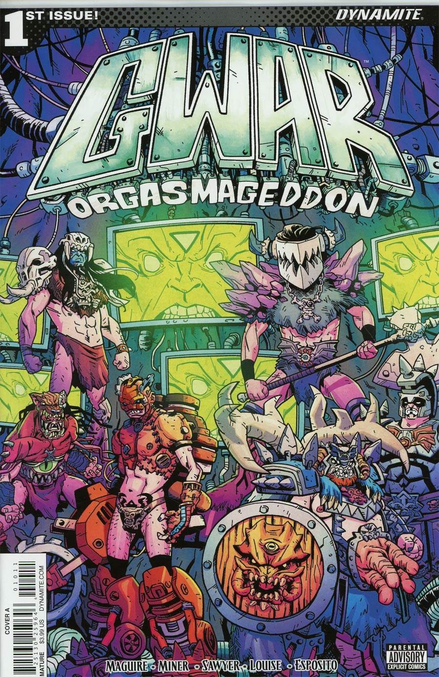 GWAR Orgasmageddon #1 Cover A Regular Jonathan Brandon Sawyer Cover